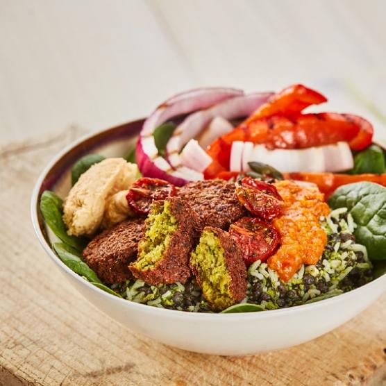 Roasted Vegetables And Falafel